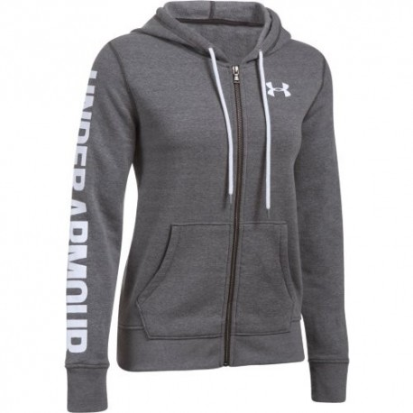 Under Armour Felpa Donna Cap/Zip Fit Grigio