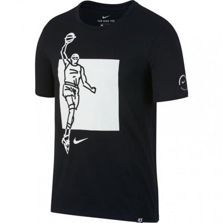 Nike T-Shirt Mm Kd Dry Famous Black/White