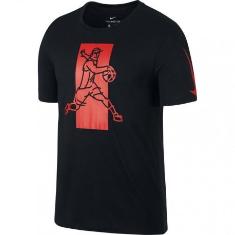 Nike T-Shirt Mm Ki Dry Famous Black/Red