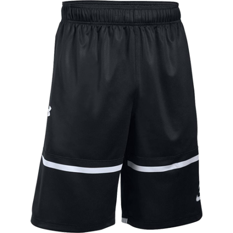 Under Armour Short Pick N Roll 11in Nero/Bianco
