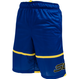 Under Armour Short Pick N Roll 11in Blu/Giallo