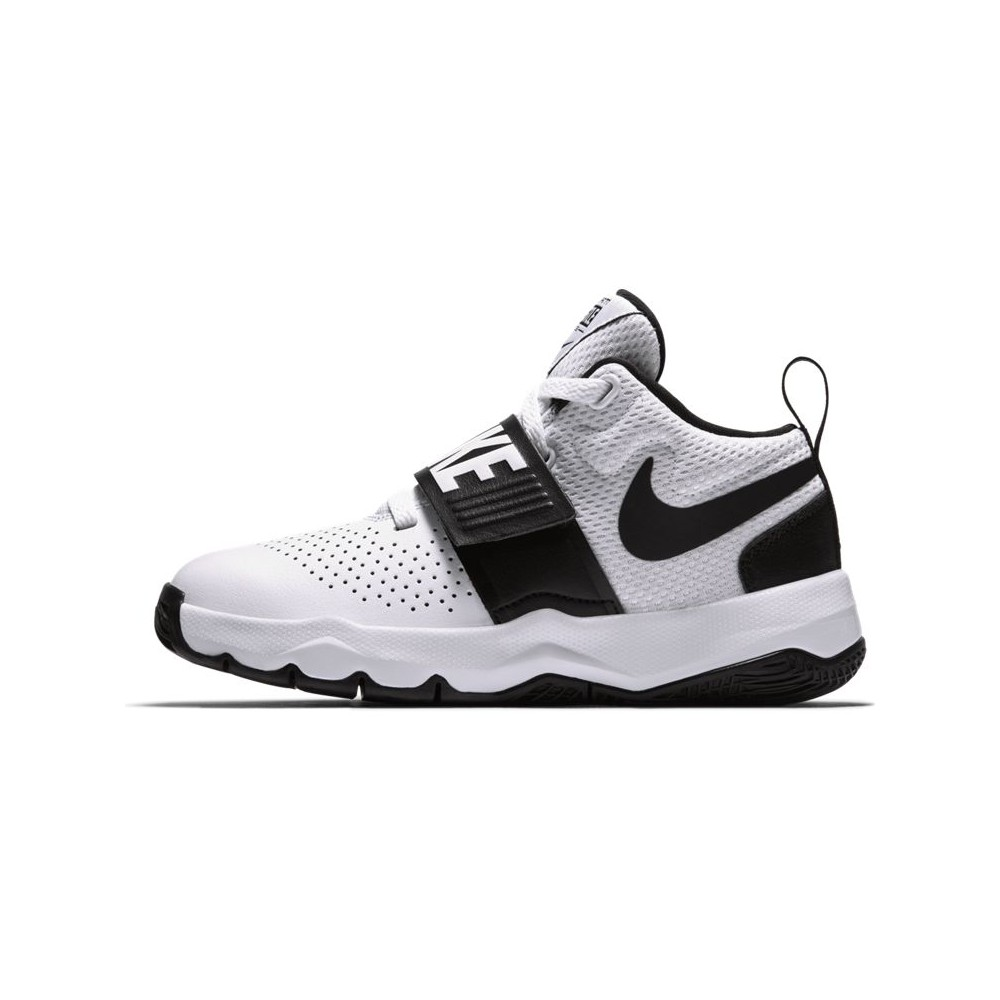 Nike Bambino Team Hustle 8 Gs Bianco/Nero