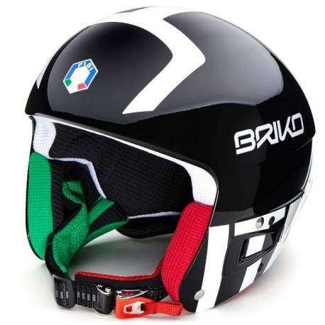 Briko Casco Vulcano Fisi Fis6.8   Black/White