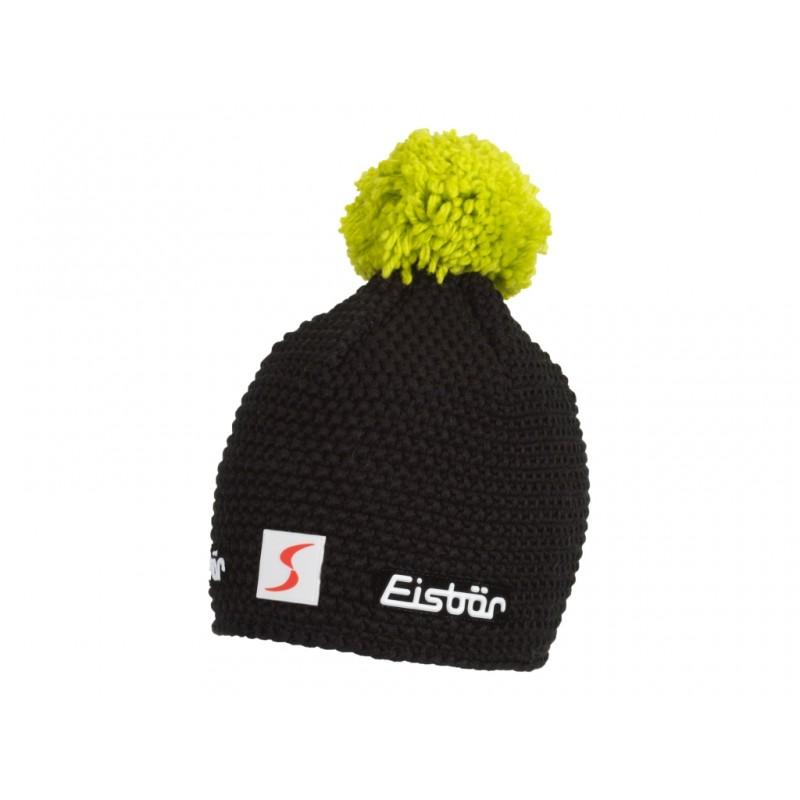 bellissimo stile stili di moda come ordinare Eisbar Berretto Jamie Pompon Nero Verde Fluo