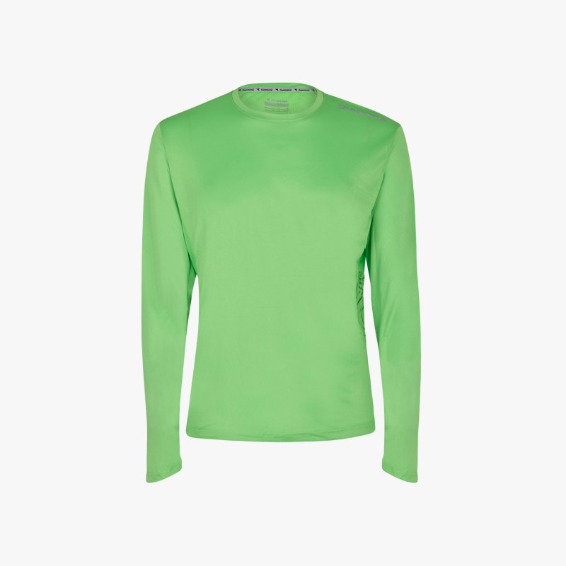 Diadora T-Shirt Ml X/Run Fluo Green