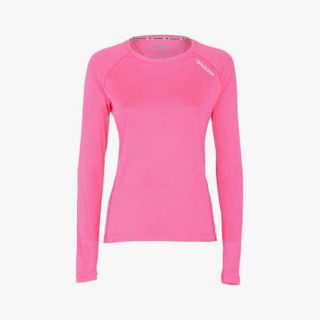 Diadora T-Shirt Donna Ml X/Run Pink Fluo