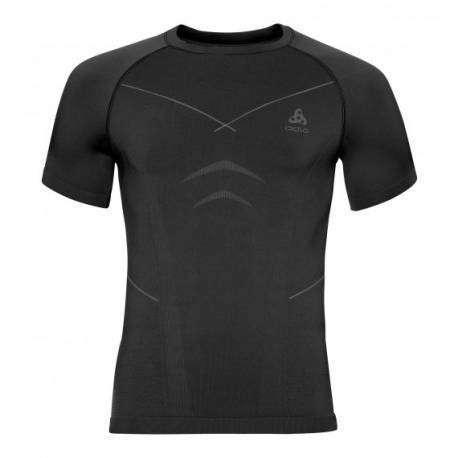 Odlo T-Shirt Evolution Warm Black/Graph Grey