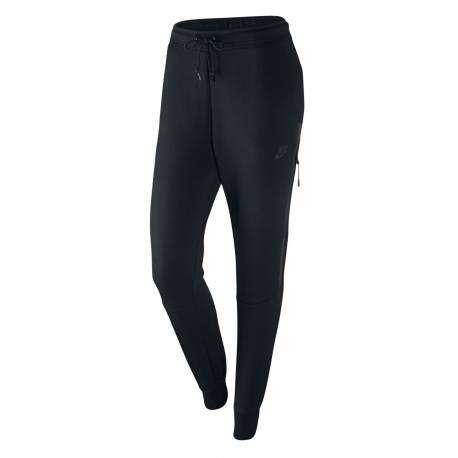 Nike Pantalone Donna Tech Flc Black