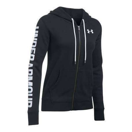 Under Armour Felpa Donna Cap/Zip Fit Nero