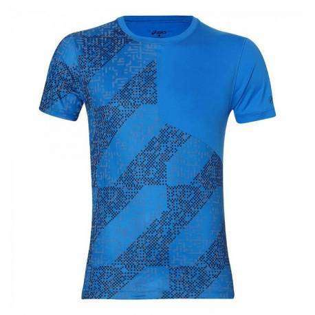 Asics T-Shirt Mm Rn Lite-Show Directoire Blue