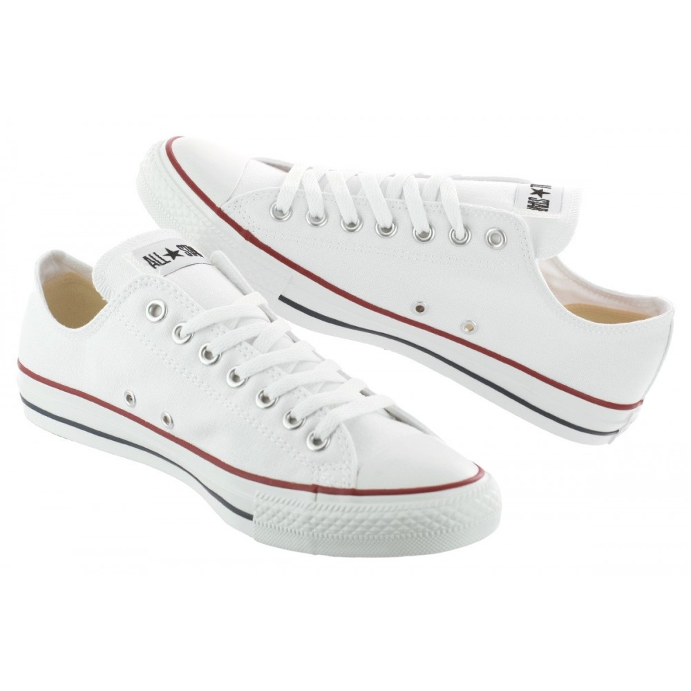 Converse Chuck Taylor All Star Low ox Optic White M7652C Bianche 42 / 8.5 / 27