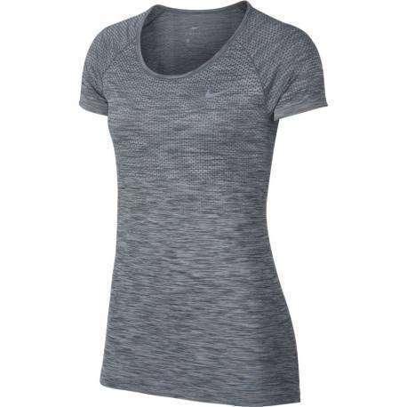 Nike T-Shirt Donna  Mm Run Df Knit Cool Grey