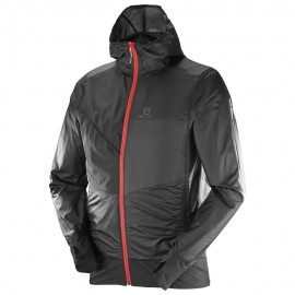 Salomon Giacca Drifter Air Wind Hoodie Black