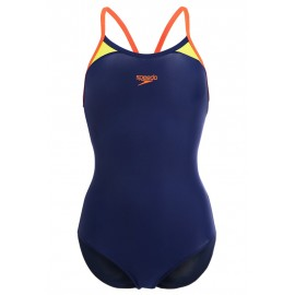 Speedo Costume W Train Splice Thin Navy/Orange