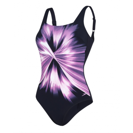 Speedo Costume W Sclp Auragleam Navy/Orchid