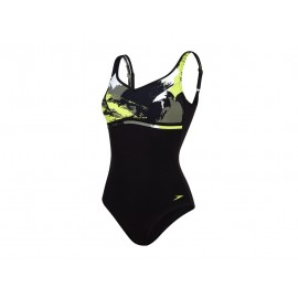 Speedo Costume W Sclp Contourluxe Black/Lime