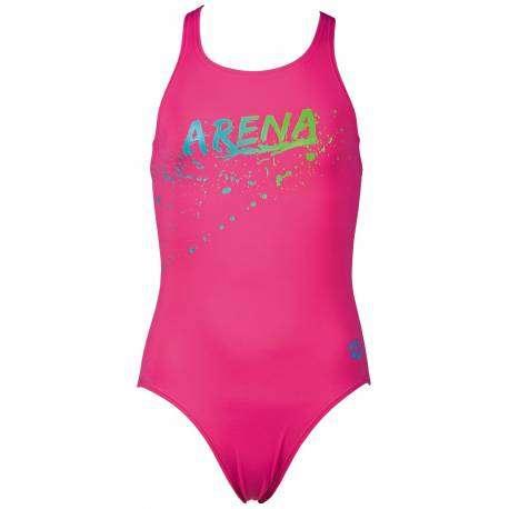 Arena Costume Bambina Train Gengi Rose/Turq