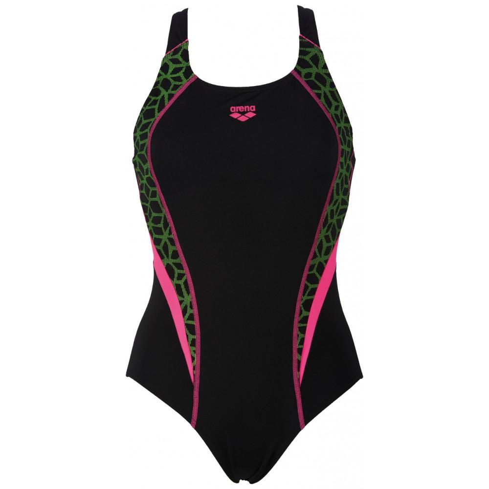 Arena costume w microcarbonite black rose 86509 acquista for Arena costumi piscina