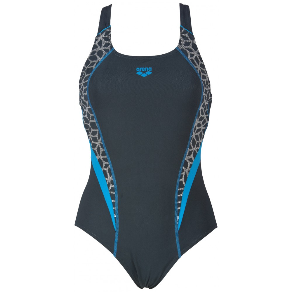 Arena costume w microcarbonite grey turquoise 86518 - Costumi piscina arena ...