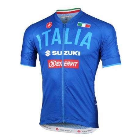 Castelli Maglia Italia Team 2.0 Ita Blu