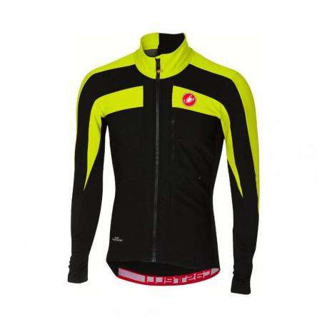 Castelli Giacca Trasparente 4 Light Black/Yellow Fluo