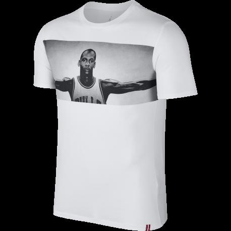 Nike T-shirt Stampa Foto Jordan Bianco