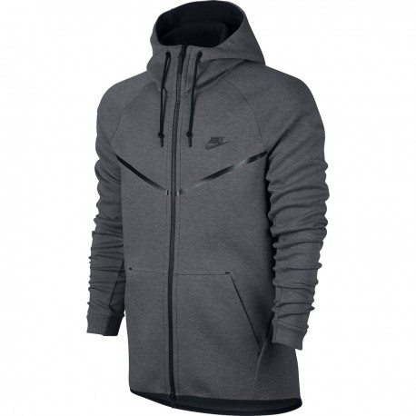 Nike Felpa Full Zip C/Capp Tech Fleece Grigio