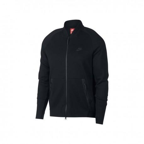 Nike Felpa S/Capp Tech Fleece Nero