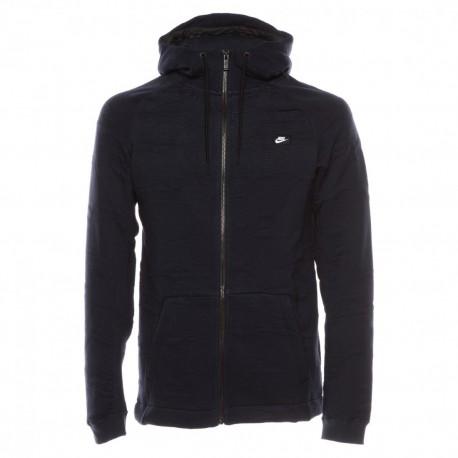 Nike Felpa Zip e Cappuccio Blu