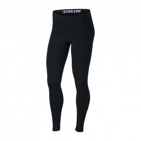 Nike Legging Metallic Donna Nero