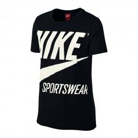 Nike T-Shirt Big Logo Donna Bianco