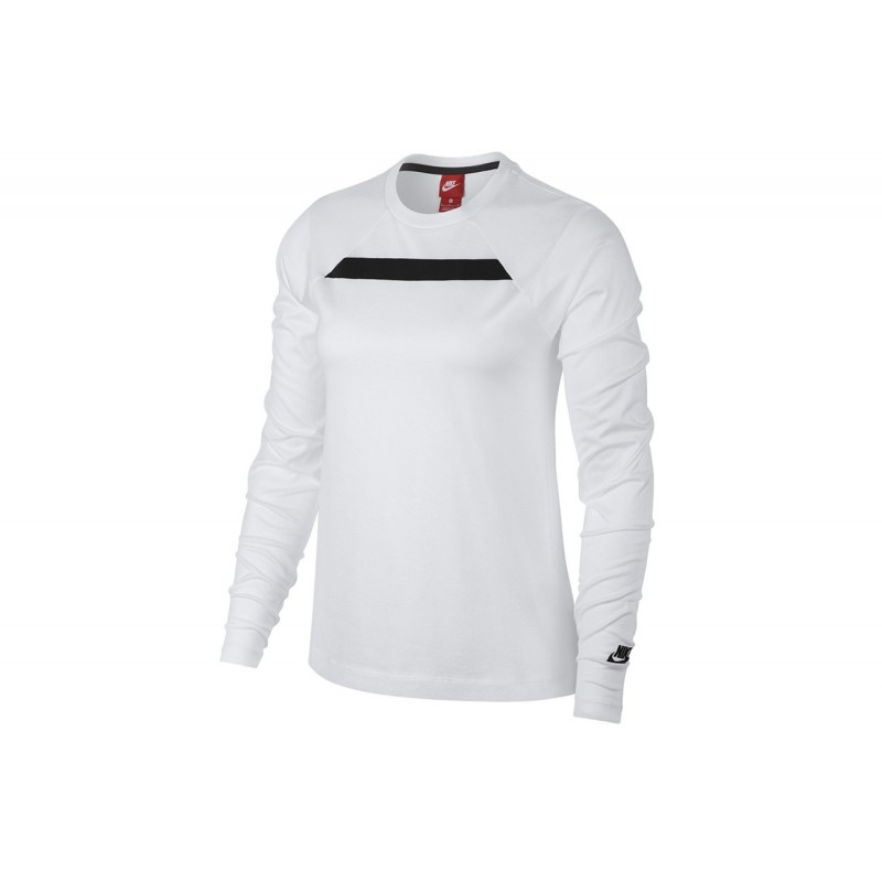 Nike T-Shirt Donna Tech Fleece Bianco