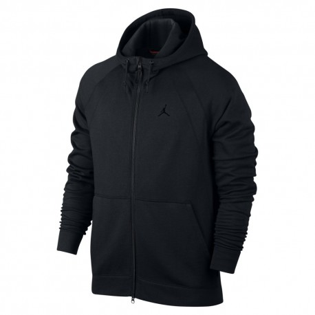 Nike Felpa F/Zip Cappuccio Jordan Nero