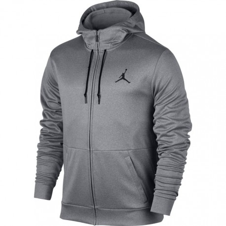 Nike Felpa Cappuccio Lucida Jordan Grigio