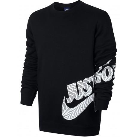 Nike Felpa Girocollo Swoosh Felpa Grigio