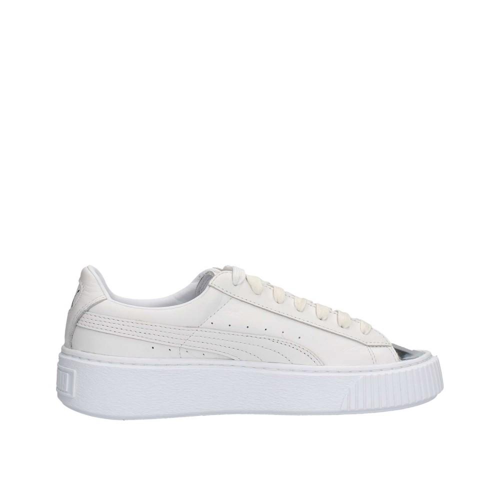 PUMA Basket Platform METALLIZZATO Vera Pelle Sneaker Donna Scarpe Classic 366169 01
