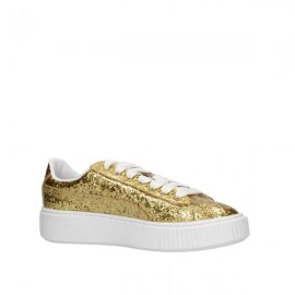 Puma Scarpa Donna Basket Platform Glitter Gold/Gold