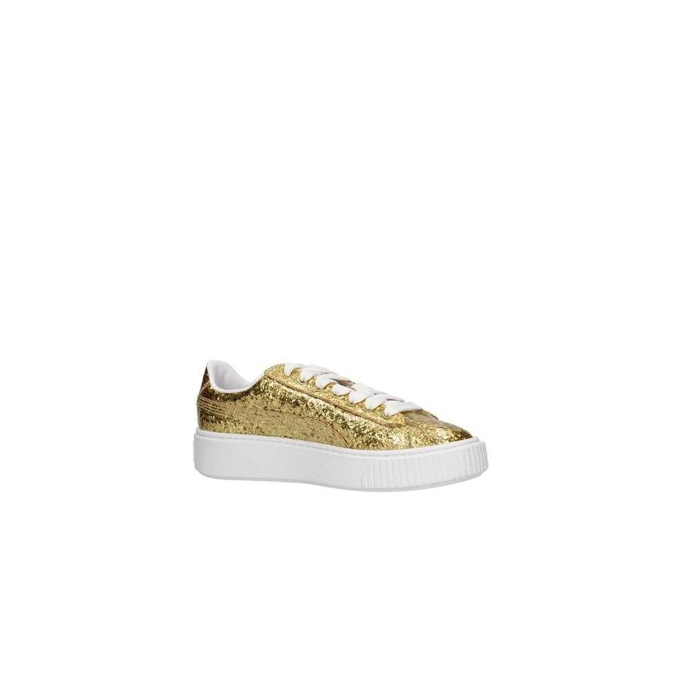 Goldgold Donna Scarpa Basket Glitter 02 Puma Platform 364093 XawqFq56