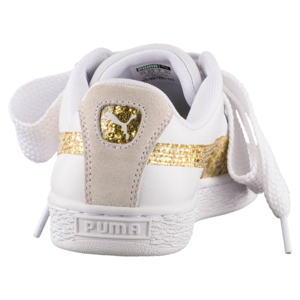 Donna Basket 01 364078 Biancooro Heart Scarpa Puma Glitter E92DHIW