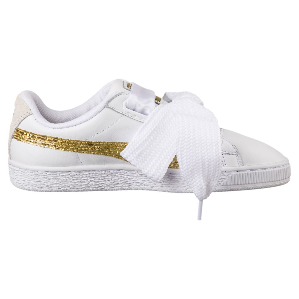 scarpe puma basket heart bianche