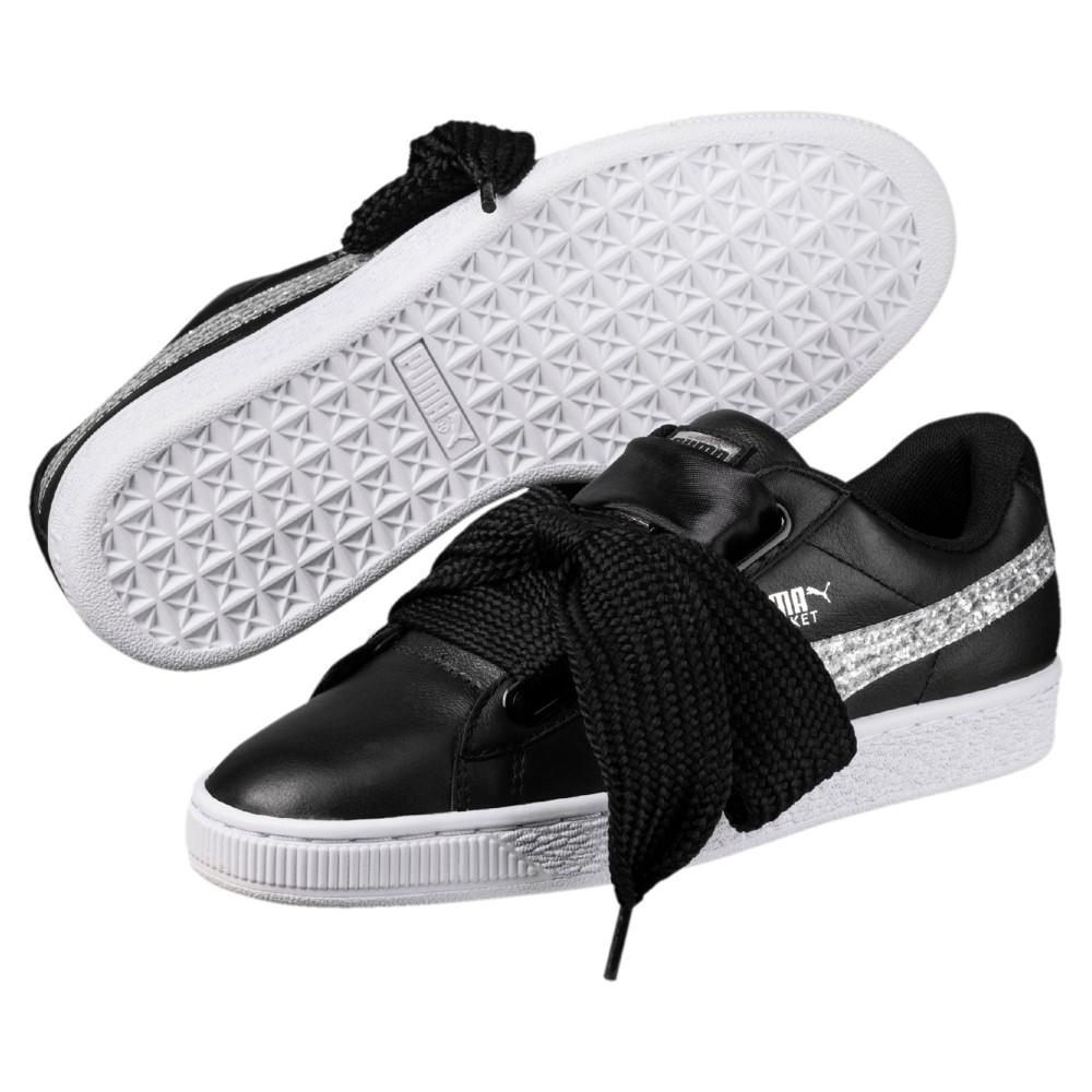 scarpe puma basket donna glitter