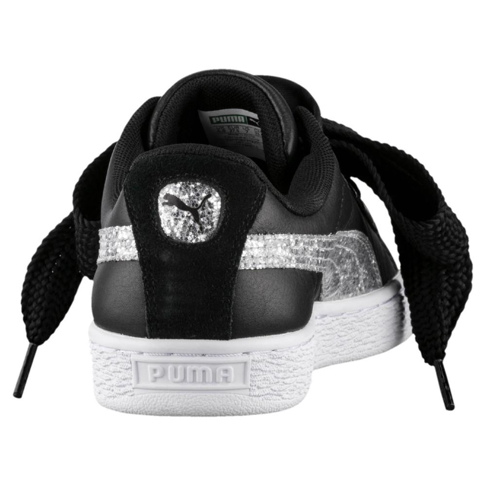 scarpe puma basket nere donna