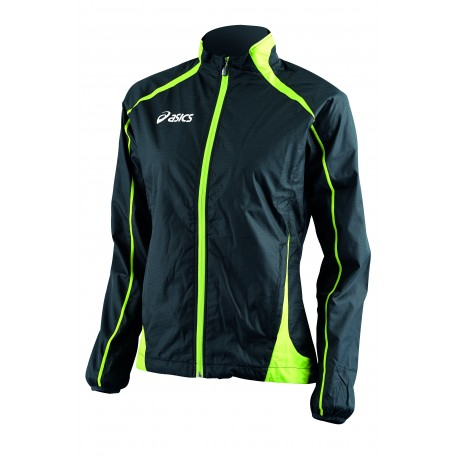 Asics Giacca Donna Windbreaker Colin Black/Lime
