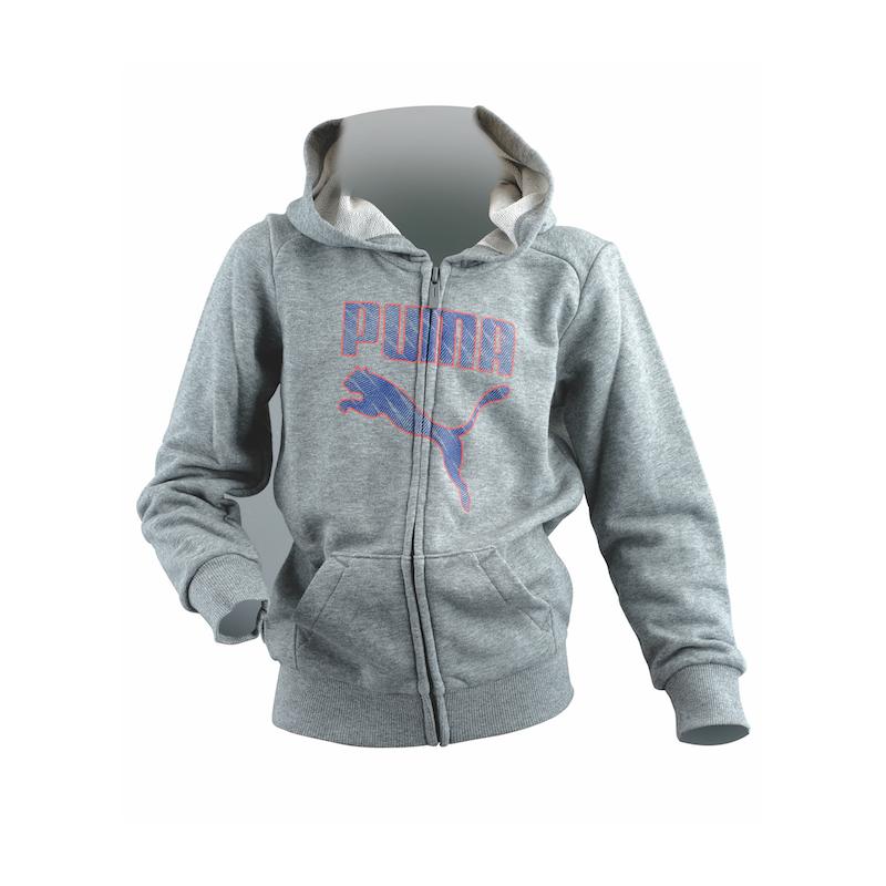 Puma Felpa Jr Cap/Zip Boy 37 Gray