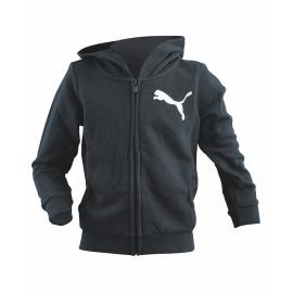 Puma Felpa Junior Cap/Zip Black