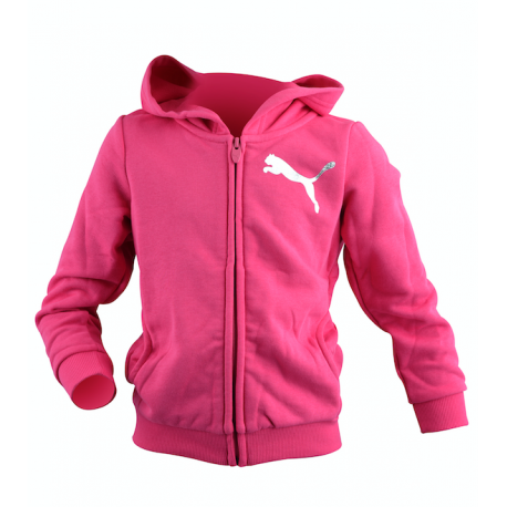 Puma Felpa Junior Cap/Zip Girl 37 Fucsia