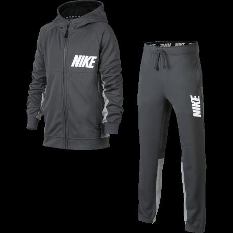 Nike Tuta Logo Full zip Capp Boy Grigio