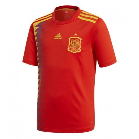 Adidas T-Shirt Bambino Mm Spagna Home Rosso