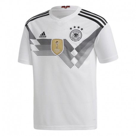 Adidas T-Shirt Bambino Mm Germania Home Bianco/Nero