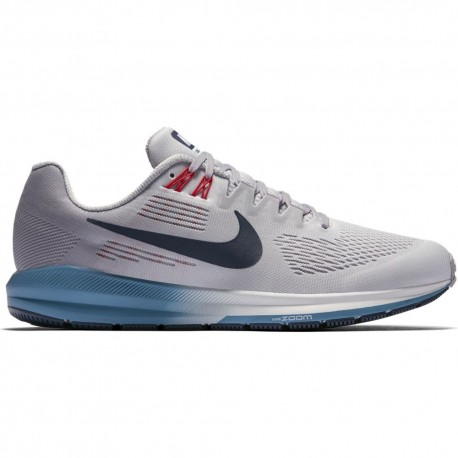 Nike Scarpa Air Zoom Structure 21 Cool Grey/Thunder Blue